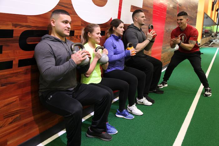 Fitness team training